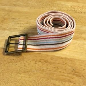 Accessories - Striped Stretchy Belt